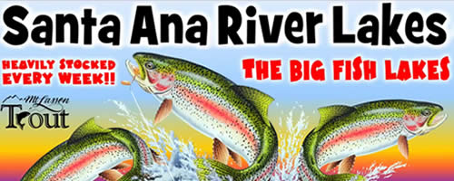 Santa Ana River Lakes fishing
