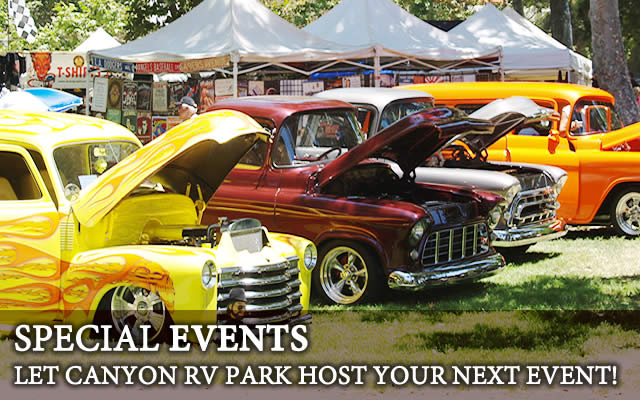 Canyon RV park can host special events
